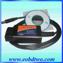 Hot!!ELM327 elm 327 usb interface support all OBD II protocols elm327 usb obd2 +100% 1 Year Warranty