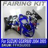 Motorcycle fairing kit For SUZUKI GSXR600 2004 2005 fairing kit BLUE AND BLACK