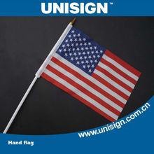 UNISIGN Hot Selling Events Promotional Custom Hand Flag