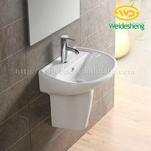 Hot sale! Bathroom Sanitary ware sink Semi wall hung basin hand basinR209