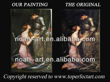 Classical boy and girl oil painting of love