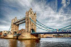 England bridge HD photo printing on fabric