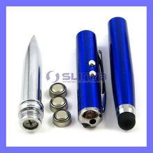 4 in 1 Touch Screen Stylus + Ballpoint Pen + Laser Pointer + LED Light