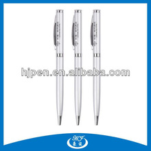 Cheap Silver Promotional Stamp Twist Metal Ball Pen