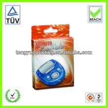 tuck top clear pvc box/packaging plastic box handle/plastic case
