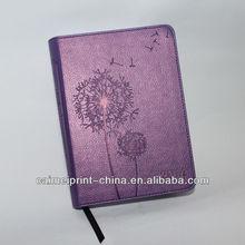 notebook 2014, embossed logo PU,custom agenda/daily planner