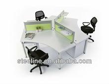 modern design 3-person curved workstation/ work desk