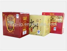 color printed 12 bottle 330/600ml portable wine case