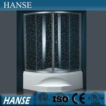 HS-SR005B corner tub shower/ curved shower enclosure/ deep shower enclosure