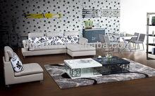 2013 branco couro sofá de canto em madeira quadro é feito para sala de estar