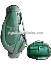 Green golf cart bag and clothes bag