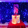 Factory price 4*6m good effect RGB 3 IN 1 party backdrop decorate wedding backdrop led star cloth with controller