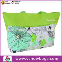 Vinyl Polka Dot Tote wholesale zipper nylon beach totes and bags