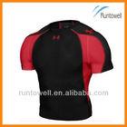 2013 Men's short sleeve compression wear, blank compression shirts / mens compression shirt / dri fit compression shirts