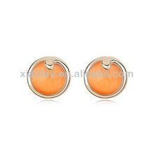 New Design Full Opal Earrings Alloy Gold Plated
