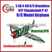 EPO 2.4G 4-CH R/C Brushless RTF Thunderbolt P-47 Airplane