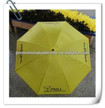 2015 yellow bright colored umbrella publicity gifts