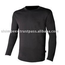 100 % Cotton Round Neck Long Sleeve T Shirt