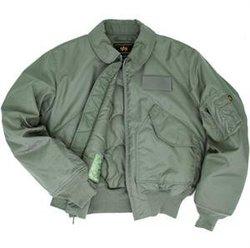 Alpha Industries CWU 45/P NOMEX Mil-Spec Flight Jacket, Style # MMC10000U1