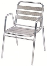 Aluminum garden stacking cafe chairs