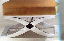 AZ-K73 stainless steel ottoman for hotel bedroom furniture