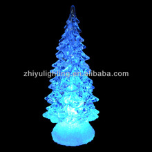 LED color changing christmas decoration gift crystal tree table night light