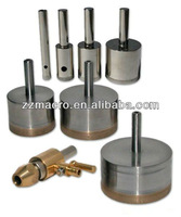 factory directly striaght shank diamond core drill bit for glass with water swivel