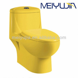 Fashion Color toilet! Chaozhou sanitary ware Siphonic One Piece Colorful Toilet M5856