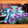 polyester colorful disperse printed bed sheet