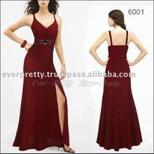 09239BK Elegance Black Sexy Spaghetti Halter Evening Gown