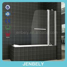 6mm glass Quality Double Over Bath swinging Bath screen
