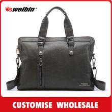 stylish men pu leather handbags for laptop