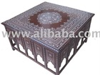 Coffee Table Baradari Plastic in Lay Mughal Design