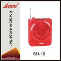 Lane sh-10 caliente de guía turístico portátil mini amplificador de voz