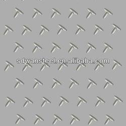 aluminum checkered plate with 5 bar diamond-embossed orange skin
