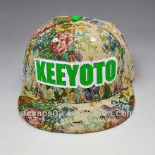 customize floral snapback caps
