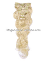 Sensational premium clip-in remy human hair extensions