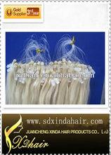 100% remy hair micro bead loop hair extension permanent