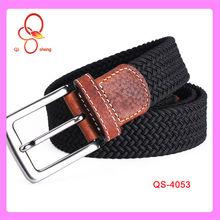 Black Fancy Excellent Abrasion Resistance Automatic Buckle Elastic Belt For Men