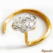 Ladies Diamond Gold Nose Ring / Pin