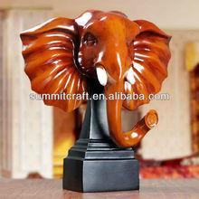 Customized elephant head sculpture