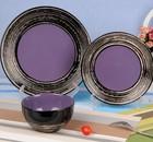 12pcs or 16pcs tree ring ceramic purple dinner set