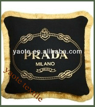 famous words printing cushion of different words customied do th order