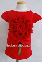 red T fashion baby girl cotton T-shirt