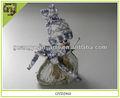 Natural muñeco de nieve de madera de abedul navidad adornos
