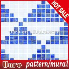 cheap swimming pool decorative mosaic art pattern
