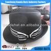 Varnished black PP Promotional fedora hat wholesale in stock