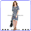 latest fashion design summer dress for fat women ,plus size new design summer dress lady 2014 women new printed casual dress