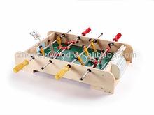 new design DIY mini wood table football toys