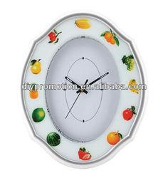 Popular wall clock modern design quartz glass wall clock